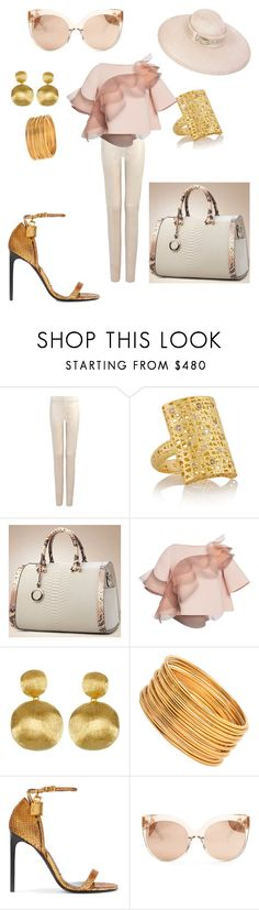 """""""Mama's Got A Brand New Bag!"""" by thehandbagmaven ❤ liked on Polyvore featuring Joseph, Yossi Harari, Marc Jacobs, Marco Bicego, Tom Ford and Linda Farrow"""