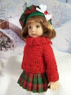 Highland-Christmas-Made-for-13-Effner-Little-Darling-by-TDDesigns. SOLD for $66.75 on 11/9/14.