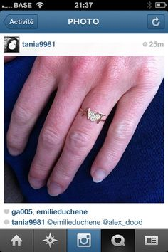 """Ring """" A(heart)T """"   Don't forget to post a picture of your own Thea jewel with the hashtag #Theajewelry"""