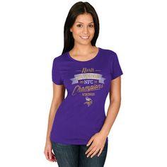 Minnesota Vikings Women's Purple 2015 NFC North Division Champions T-Shirt #vikings #nfl #minnesota