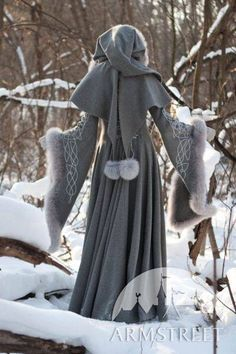 Exclusive fantasy fashion design coat Heretrix of the Winter for sale :: by medieval store ArmStreet