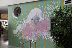 Audrey Kawasaki's Mural Magic • Beautiful Bizarre Magazine  #beautifulbizarre #beautifulbizarremagazine #artmagazine #newcontemporaryart #contemporaryart #art #painting #figurativeart #portrait #streetart #mural