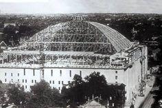 Maple Leaf Gardens under construction in 1931. Photo found on Vintage Toronto's Facebook page.
