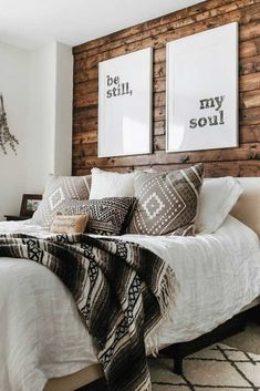 As we start to decorate our homes, the first thing that we think about is the perfect bedroom decoration in a charming manner. But renovating the place in an… Bedroom decor 65 Charming Rustic Bedroom Ideas and Designs Stylish Bedroom, Cozy Bedroom, Bedroom Wall, Bedroom Ideas, Master Bedroom, Bed Room, Bedroom Furniture, Bedroom Inspiration, Bedroom With Wood Wall