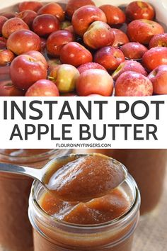 Instant Pot apple butter is filled with delicious cinnamon spice flavor. Such a quick and easy recipe to freeze or can, Ill never buy store bought again. Jelly Recipes, Jam Recipes, Canning Recipes, Apple Recipes To Freeze, Apple Recipes Easy Quick, Beginner Recipes, Canning Tips, Recipies, Instant Pot Pressure Cooker