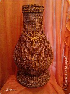 Продолжаю плести вазы.заказывают одну за другой.ну а мне очень приятно,раз людям нравится. фото 1