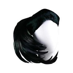 Lilly Dache Black Coq Plume and Feather Cocktail Hat | From a collection of rare vintage hats at https://www.1stdibs.com/fashion/accessories/hats/