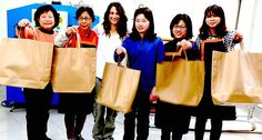 For #GenerationGenerous ethical trade practices define our work. Limited edition Generation Generous #bag has been crafted by five remarkable women makers in a village near Taichung city in #Taiwan, giving them the opportunity for a fair wage whistle doing what they love! Making bags! Here our founder Natasha with Chen Li-Mei, Huang Yi-Xuan, Chen Shu-Ling, Shen A-Xia and Guo Qiu-Lan.