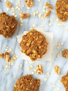 Pumpkin Oatmeal Breakfast Cookies - The Lemon Bowl #GlutenFree #Pumpkin #Healthy
