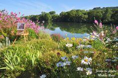 Jardin du peintre - bord de Seine à Poses