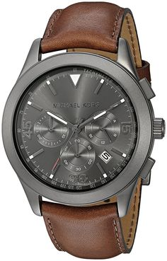 Michael Kors Watches Gareth Leather Chrono Watch *** Want additional info? Click on the image. (This is an Amazon Affiliate link and I receive a commission for the sales)