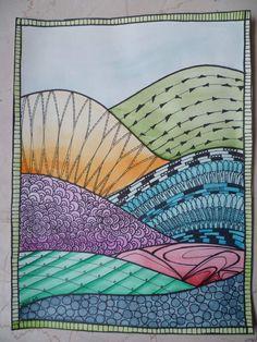 doodling aquarellé à ma façon