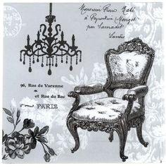 Decoupage Napkins Vintage Paris French Baroque by Chiarotino