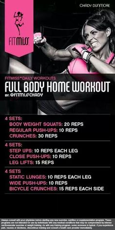 FitMiss Full Body at Home Workout