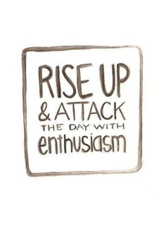 #Inspiration | Rise up!