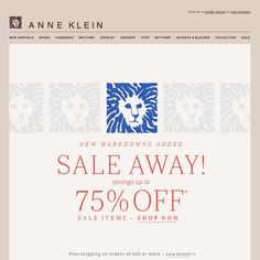 Anne Klein - Semi-Annual Event: Up to 75% Off!