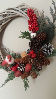 DIY Pine Cone Wreaths for Christmas – Party Wowzy DIY Pine Cone Wreaths for Christmas – Party Wowzy Christmas Swags, Holiday Wreaths, Christmas Decorations, Christmas Ornaments, Kids Christmas, Pine Cone Crafts, Wreath Crafts, Holiday Crafts, Pine Cone Wreath