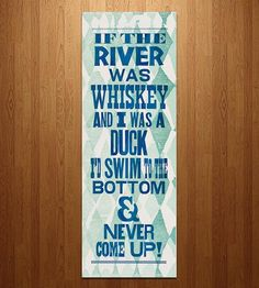Whiskey Song Lyrics Letterpress Print | Art Prints | Just A Jar | Scoutmob Shoppe | Product Detail