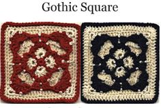 Gothic Rose Granny Square Pattern