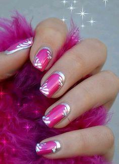 Pink Nail Art Designs - Cute Nails for Women Great Nails, Fabulous Nails, Gorgeous Nails, Love Nails, Crazy Nails, Fingernail Designs, Pink Nail Designs, Nails Design, Salon Design