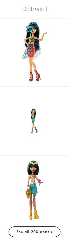 """""""Dolls/etc  """" by duwantsluke ❤ liked on Polyvore featuring monster high, toys, kids stuff, dolls, toy, random, ever after high, characters, sailor moon and fillers"""