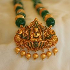 Gold Plated Temple Jewellery Necklace From Aatman, Gold Plated Necklace Collections from Aatman
