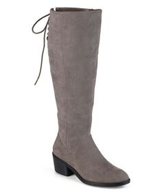 Another great find on #zulily! Gray Roz Wide-Calf Boot #zulilyfinds