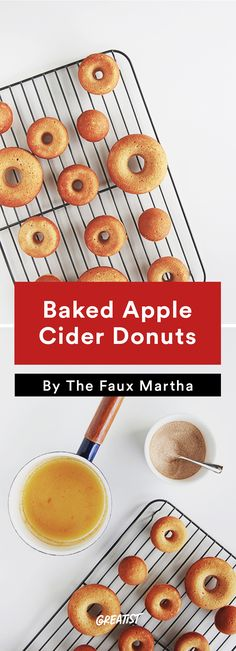 5. Baked Apple Cider Donuts #fall #recipes https://greatist.com/eat/fall-recipes-that-leave-you-feeling-cozy