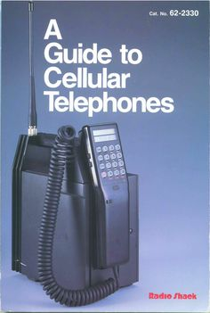 A Guide to Cellular Telephones 1986 Radio Shack Book #135