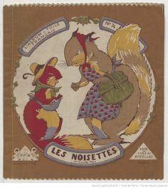 Noisettes : l'album-toile français / par Colette May,  collections numérisées dans Gallica, Fonds Heure Joyeuse (Paris)