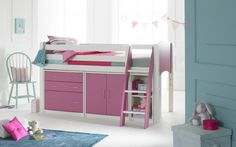 Scallywag Cabin Beds : Cabin Bed Furniture Package. Includes: 3 Drawer Chest, Cupboard and Shelving Unit.