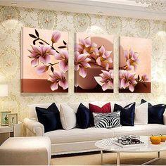 프레임 난초 벽 그림 꽃 캔버스 그림 홈 장식 사진 벽 거실 모듈 사진