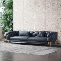 Luxury Chairs, Luxury Sofa, Leather Living Room Furniture, Living Room Sofa, Modern Fabric, Leather Sofa, Sofa Design, Seat Cushions, Living Room Designs