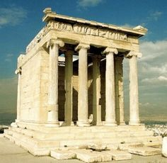 The Temple of Athena Nike (Apteros). Athens, Greece. 427 B.C. It is the earliest fully Ionic temple in the region.