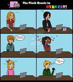 MR: Flock Reacts to Nyan Cat by ~AliAvian on deviantART