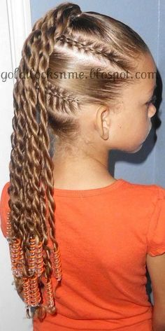 Cute cornrows and 2 strand twist hairstyle for little girls