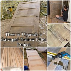 "How to Upgrade a Salvaged Hollow Door Project Homesteading  - The Homestead Survival .Com     ""Please Share This Pin"""