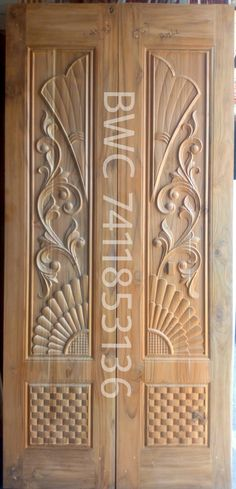 Wooden Main Door Design, Double Door Design, Pooja Mandir, Double Doors, Krishna, Ss, Carving, Home Decor, Decoration Home
