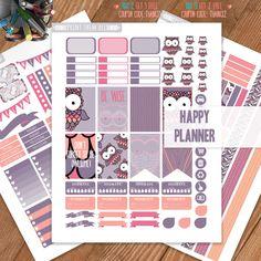 Bird, OWL Planner Stickers Printable, HAPPY PLANNER Sticker, Monthly/Weekly Kit, Printable Sampler, Happy Planner kit, Instant Download von PrintThemAllStudio auf Etsy https://www.etsy.com/de/listing/469598099/bird-owl-planner-stickers-printable