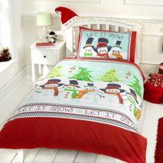 #Pościel #Świąteczna - Ekipa Mikołaja. Śliczne bałwanki w sam raz na zimową porę.