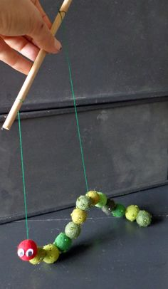 Hungry Caterpillar - Could we do this with pom-poms?