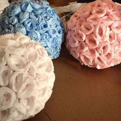 How to make crepe paper flower balls via @Guidecentral - Visit www.guidecentr.al for more #DIY #tutorials