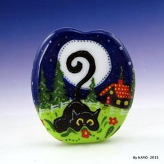 """FIFI THE FEARLESS"" byKAYO a Handmade KITTY NINJA Lampwork Glass Focal Bead SRA #Lampwork"