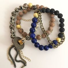 The Midnight Set by KYSSBracelets on Etsy