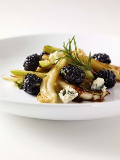 Roasted Fennel Salad with Blue Cheese and Blackberries