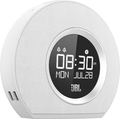White Bluetooth Speaker Alarm Clock