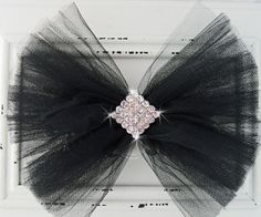 Tulle bow with bling!