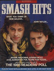 Smash Hits 18 December 1985 - Bob Geldof and John Taylor