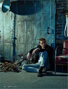 Actor Charlie Hunnam connects with photographer Brian Bowen Smith for a photo shoot.
