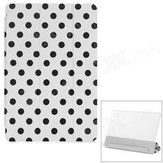 Polka Dot Flip-Open PU Leather Case w/ Auto Sleep / Stand for Xiaomi MIUI Mi Pad - White   Black Price: $8.55